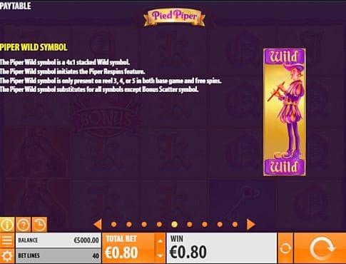 Wild в онлайн слоте Pied Piper